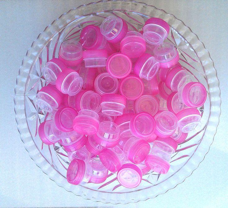 50 Empty Sample Mini JARS Skin Care Makeup USA posh PINK Sampler 3301 DecoJars  #DecoJars