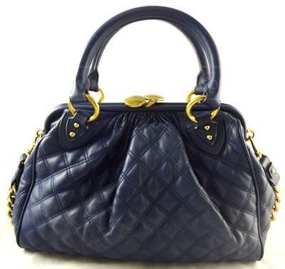 Marc Jacobs navy blue leather handbag
