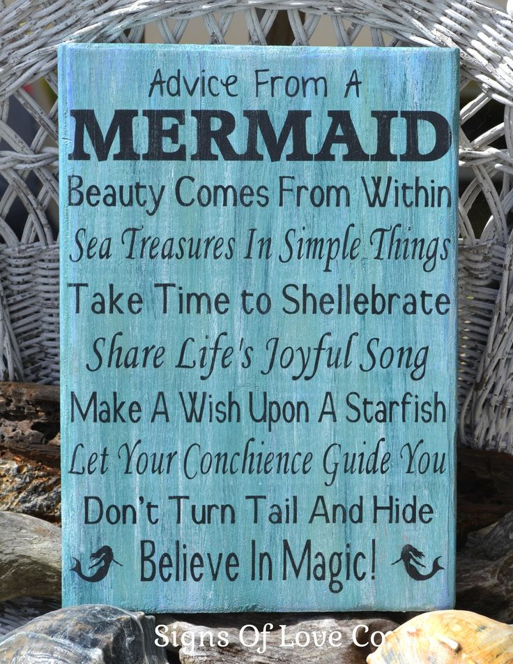 Beach Decor Advice From A Mermaid Sign Hand Painted Wood Plaque U2013 Signs Of  Love