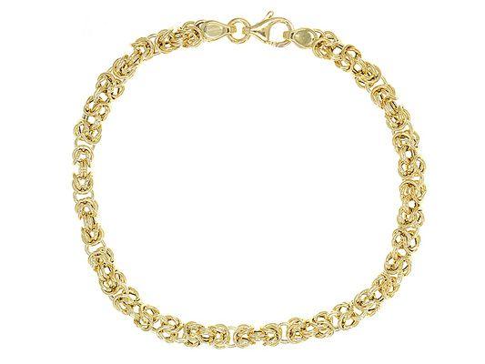 Fine Jewelry Made in Italy 14K Round Byzantine Bracelet 0o3Ez