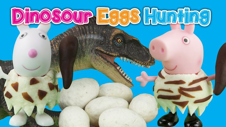 HD Peppa Pig English Episode Dinosaur Eggs Hunting! Toy Videos
