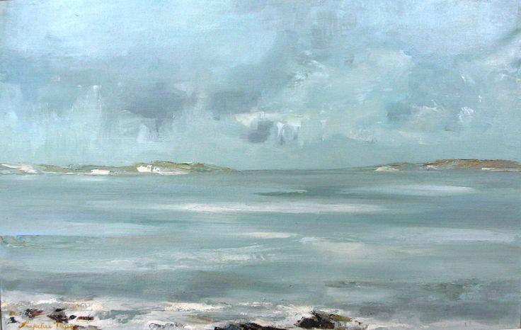 Seascape, The Cockle Strand, Island of Barra, Western Isles Oil on Canvas, Size 17.5x27' http://www.zaidan.ca/Art_Gallery/Perpetua_Pope/Perpetua-Pope.htm
