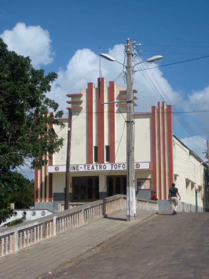 The cinema in Inhambane, Mozambique.