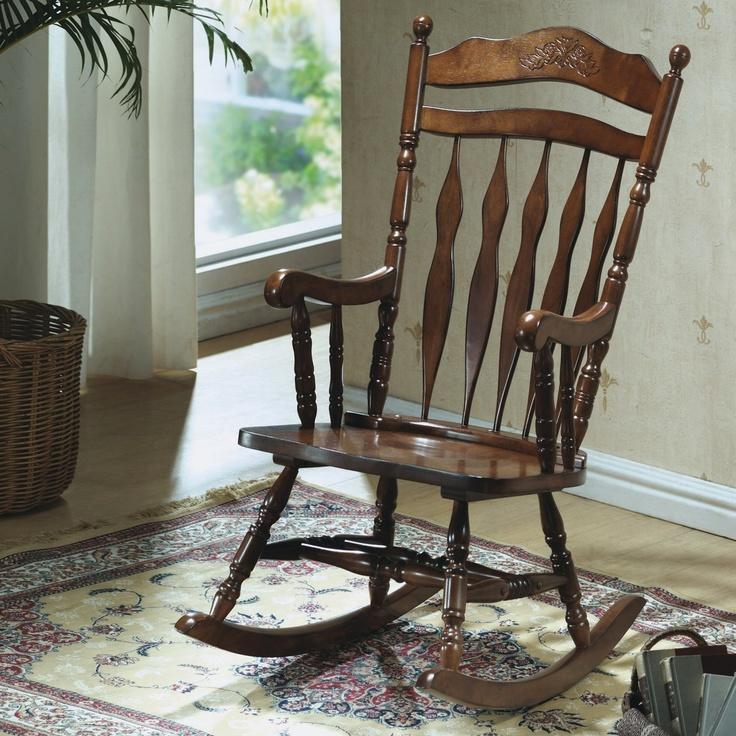 Monarch Specialties I 1521 Dark Embossed Back Rocking Chair   Loweu0027s Canada