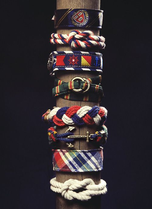Menstyleinspo: Rope and Nautical themed Bracelets... (MenStyle1- Men's Style Blog)