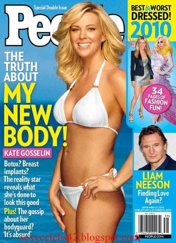 Kate Gosselin in cool banded b... is listed (or ranked) 3 on the list Kate Gosselin Bikini Pictures