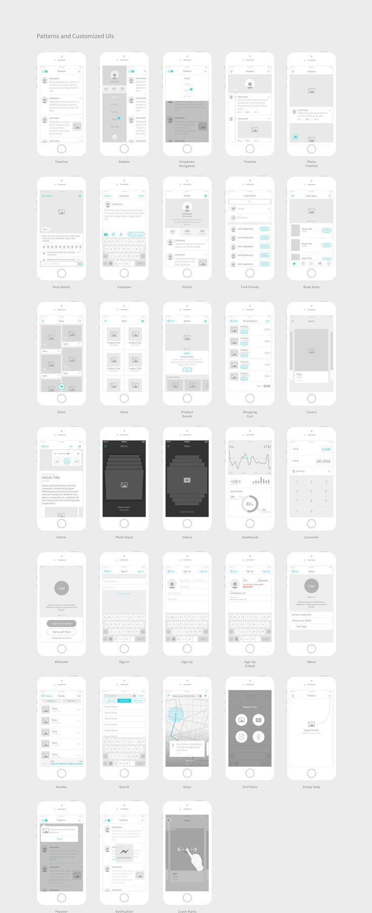 Kitchenware Pro: iOS Wireframe Kit