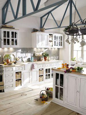 Die 25+ besten Ideen zu Landhausküche auf Pinterest ... | {Küchenzeile weiss landhaus 95}