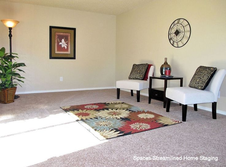 Affordable staging for rental properties. See More. Marketing photos that  include furniture and color- so much more effective than bare rooms!