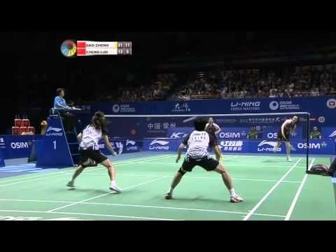 2012 Li-Ning China Masters Women's Double Final   Bao Yixin/Zhong Qianxin [CHN] vs Cheng Shu/Luo Yu [CHN]