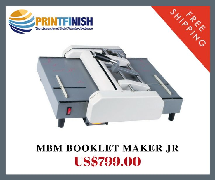 Buy Mbm Booklet Maker Jr Machine Detail :- Entry level booklet maker.  Compact size.  Create booklets up to 40 pages. and free shipping available on this product. For more details call us on 1800-268-6577 or visit @  https://printfinish.com/shop/booklet-makers/mbm-bookletmaker-jr/
