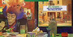 "comics-albumcovers: "" MOEBIUS / JEAN GIRAUD : ""ARE YOU EXPERIENCED / AXIS : BOLD AS LOVE"" - JIMI HENDRIX (1967) Download: Experience Hendrix - The Best of Jimi Hendrix - Jimi Hendrix Amazon: Voodoo Soup """