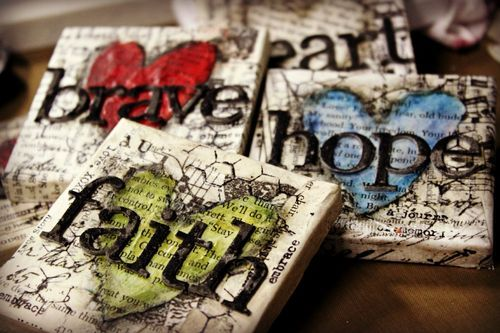 Mixed Media Work: Tinycanvas COULD MAKE COASTERS LIKE THIS!