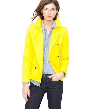 What a color POP! J. Crew Trudy Peacoat