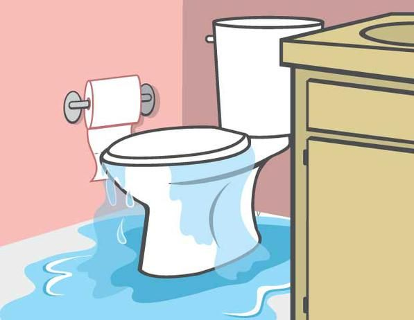 How to Stop an Overflowing Toilet: House Water, Common Toilets, Ideas Repin, Overflow Toilets, Plumbing Problems, Bathroom Floors, Toilets Problems, Wet Bathroom, Bathroom Solutions Repair