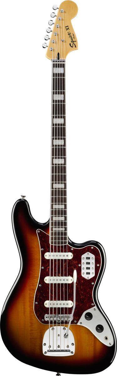 Squier Vintage Modified Bass VI Squier brings you the welcome return of a long-vanished Fender classic in the deeply satisfying form of the Vintage Modified Bass VI six-string bass. The original model