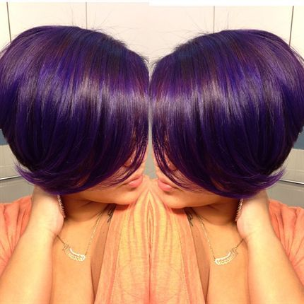 Behind The Chair - link to purple violet hair color formula