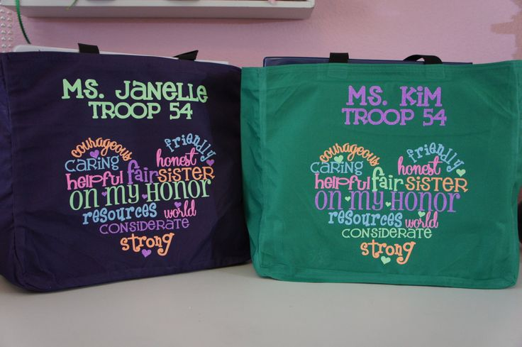 Girl Scout Leader Bag! Customize for your Troop # and Leader's name! by GlitterMomz on Etsy