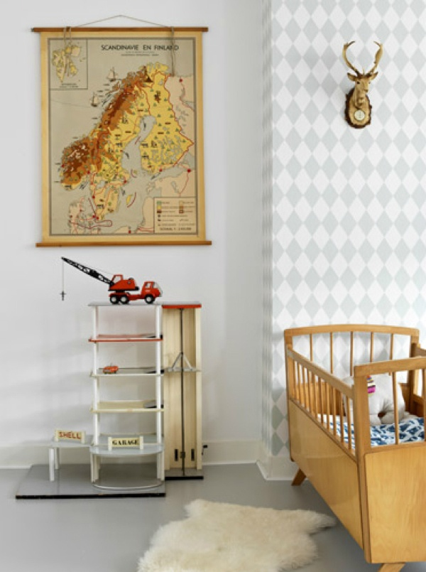 Nursery wallpaper map : Vintage kids room - rafa: wallpaper, rooms, baby ...