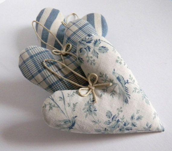 Lavender Sachet Heart Sachet set of 3 by ginderellas on Etsy, $14.00