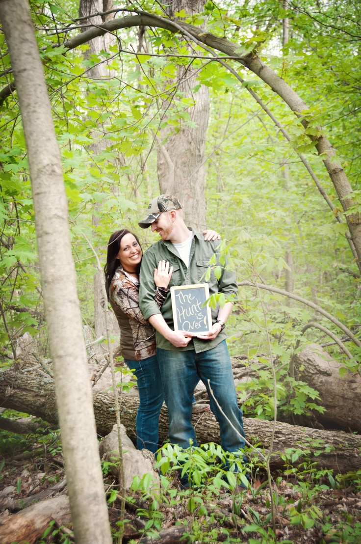 The Hunt is Over. Engagement Photo | Engagement Photo ...