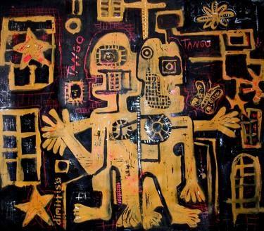"Saatchi Art Artist dimitris p; Painting, ""Street Art -Tango"" #art"