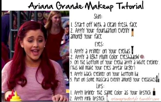 Ariana Grande Makeup Tutorial : Make-Up : Pinterest