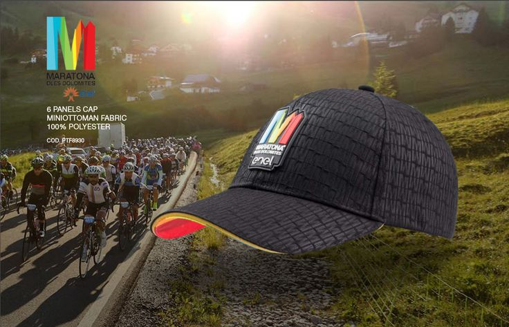 6 panels cap - minottoman fabric 100% polyester - PTF8930 #atlantisevents #atlantisontheroad #sports #strong #action