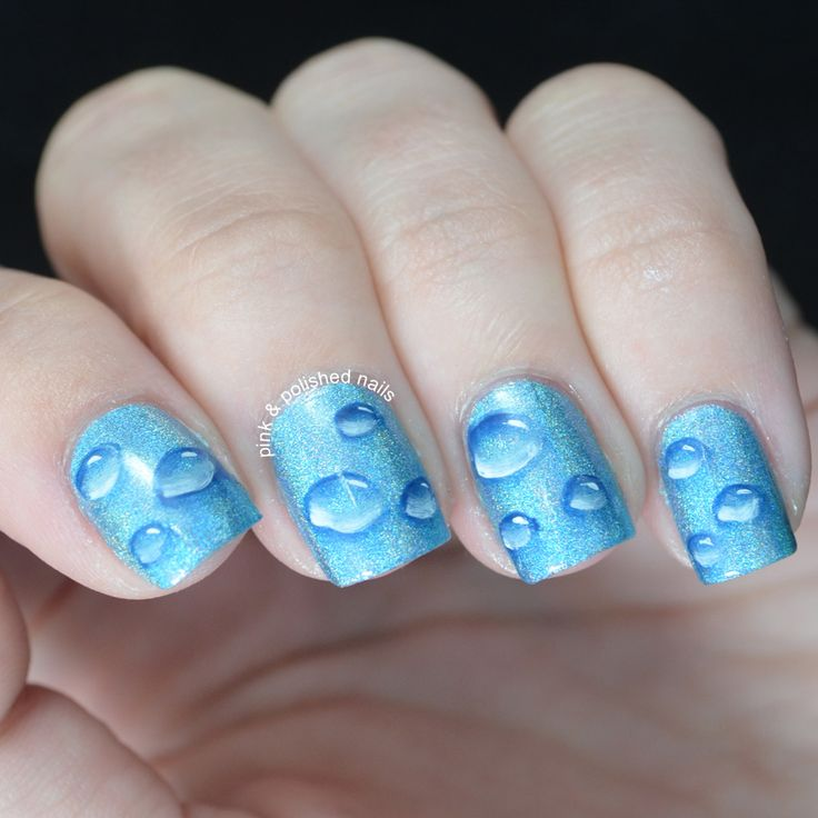 BEST nail art water drops EVER!
