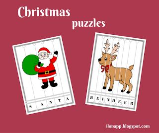 English Freak: CHRISTMAS PUZZLES (PRINTABLE)