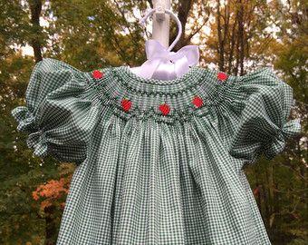 Lavanda/Multi-colorear mano Smocked Vestido por AnabelleRoseDesigns