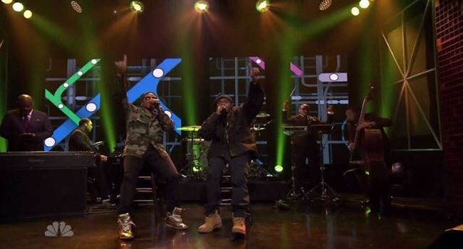 """Watch: Nas & Q-Tip Performs """"One Love"""" Live on Jimmy Fallon #Getmybuzzup- http://getmybuzzup.com/wp-content/uploads/2014/04/nas-q-tip.jpg- http://getmybuzzup.com/watch-nas-q-tip-performs-one-love-live-jimmy-fallon-getmybuzzup/- In case you missed it here's your chance to see Nas & Q-Tip performing the song """"One Love"""" live on The Jimmy Fallon show.Enjoy this video stream below after the jump. Follow me:Getmybuzzup on Twitter