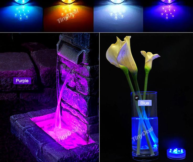 10-LED RGB Colorful Waterproof Diving Lamp Vase Base Light Christmas Party Decoration Lamp w Remote Control HLT-491534