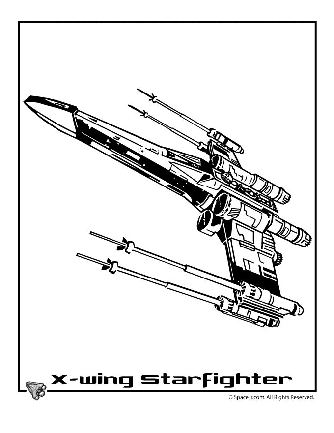 Star wars ships coloring pages star wars xwing star fighte for Star wars x wing coloring pages