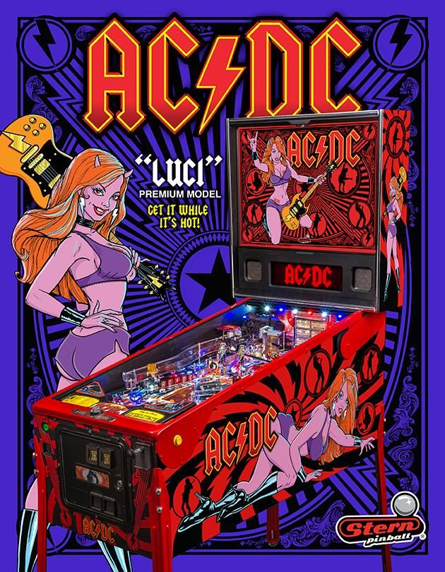 "Stern Pinball Announces AC/DC ""Luci"" Premium Pinball Game - Arcade Heroes"
