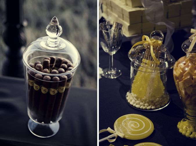 No party is complete without a #cigar bar for the adults and a candy bar for the kids (and the adults, too!).
