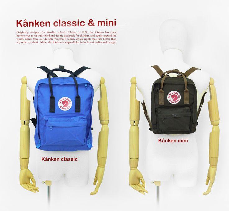 Kết quả hình ảnh cho kanken classic vs mini