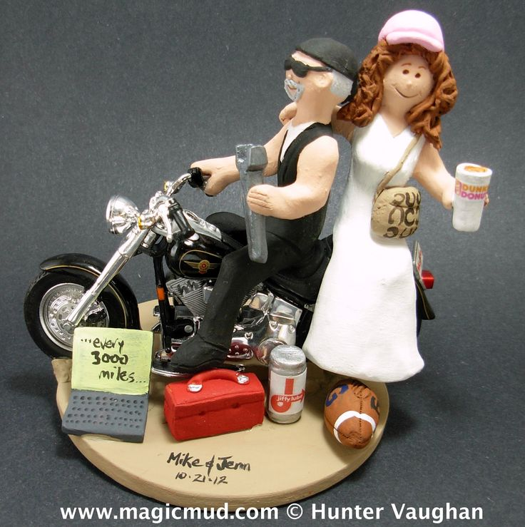 motorcycle couple wedding cake topper 17 best images about unique cake toppers wedding on 17606