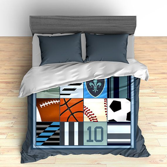 🎁 Our items are currently ✂ down 10% while supplies last Do you dream of having the most unique bedroom décor? With our printed duvet covers, your bedroom can be one of a kind. We make it simple to create bedding that is beautiful and expresses who you are. Make your bedroom the place of your dreams! All Star sports balls custom bedding, duvet or comforter, football, basketball, baseball, soccer, custom, king, queen, twin, toddler bedding ✪ ABOUT OUR DUVET COVERS AND COMFORTERS ✧ Choose ...