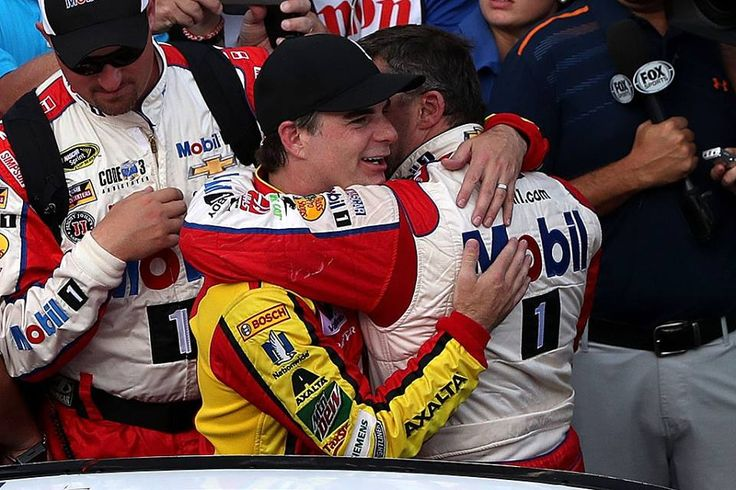 Tony Stewart and Jeff Gordon {subbing for Dale Jr in the 88} do a final lap together around Indy Tony's last lap.......7/24/16