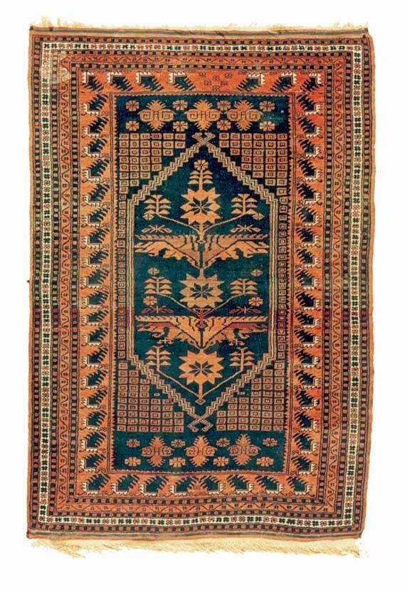 YAĞCIBEDÍR (Sındırgı & Bigadiç districts, Balıkesir province), Yörük rug, fist half of 20th century, wool on wool, 128×189 cm.