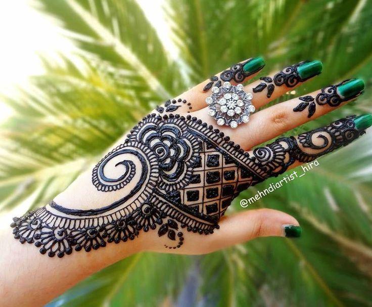 Exquisite Back Side Mehndi Design for Hands