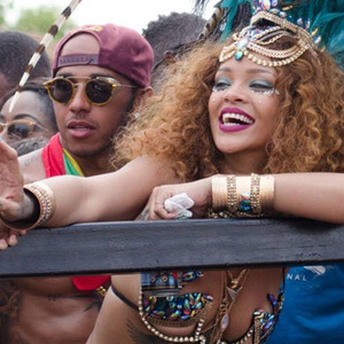 Rihanna and Lewis Hamilton Spark Romance Rumors at Carnival in Barbados—See the Pic! | E! Online