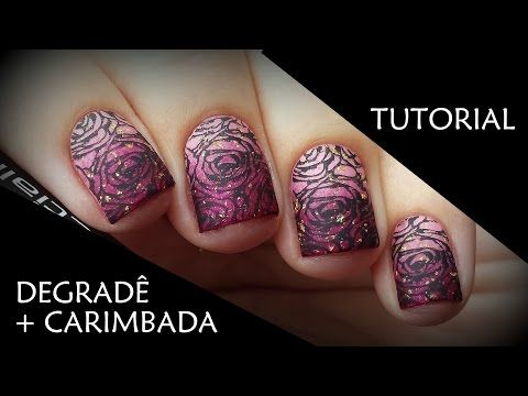 TUTORIAL DE UNHAS DECORADAS: Degradê de rosas | Unhas da Mari - YouTube