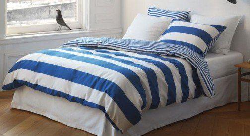 Marc O'Polo Dekbedovertrek Summer Stripe-frech blue actie