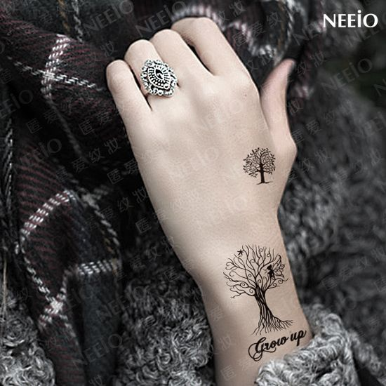 Find More Temporary Tattoos Information about Temporary tattoo sticker waterproof grow up tree black sex products for women body art makeup arm leg ear hand small tattoo,High Quality product sticker printing,China sticker for Suppliers, Cheap stickers blackberry from products updated every day on Aliexpress.com