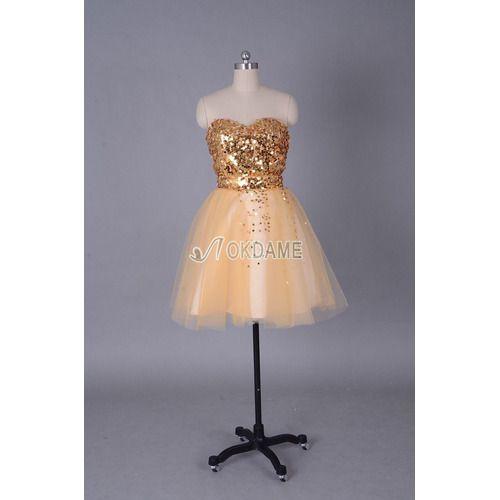 Ärmelloses Reißverschluss Sternenhimmel Fake zweiteilige romantisches Abiballkleid/ Süß 14 Geburtstag Kleid