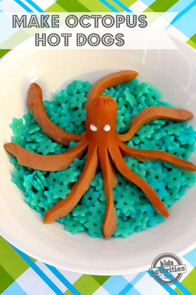 Octopus hot dogs are such a fun kids lunch idea!