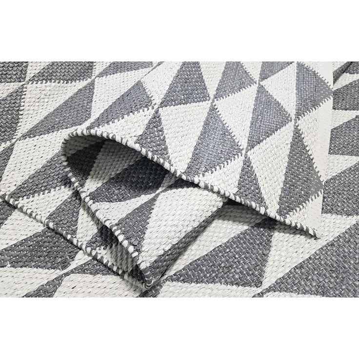 Grå/vit plastmatta jaquardvävd! Mycket populär matta som passar bra i kök, hall och tvättstugan. Trendig mönster på båda sidor av mattan. Teknisk informat