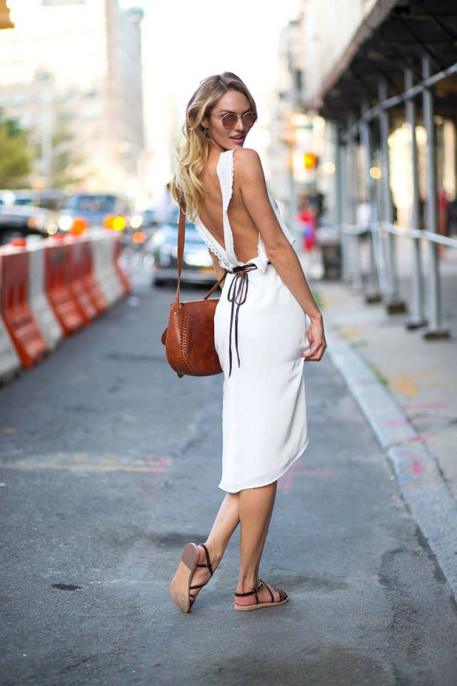 Candice Swanepoel. See all the best street style spotted at #NYFW here.